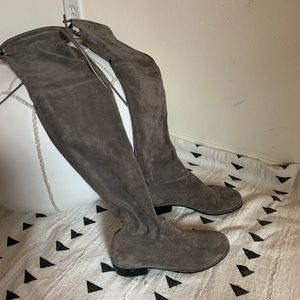 Shoes - Suede OTK boots